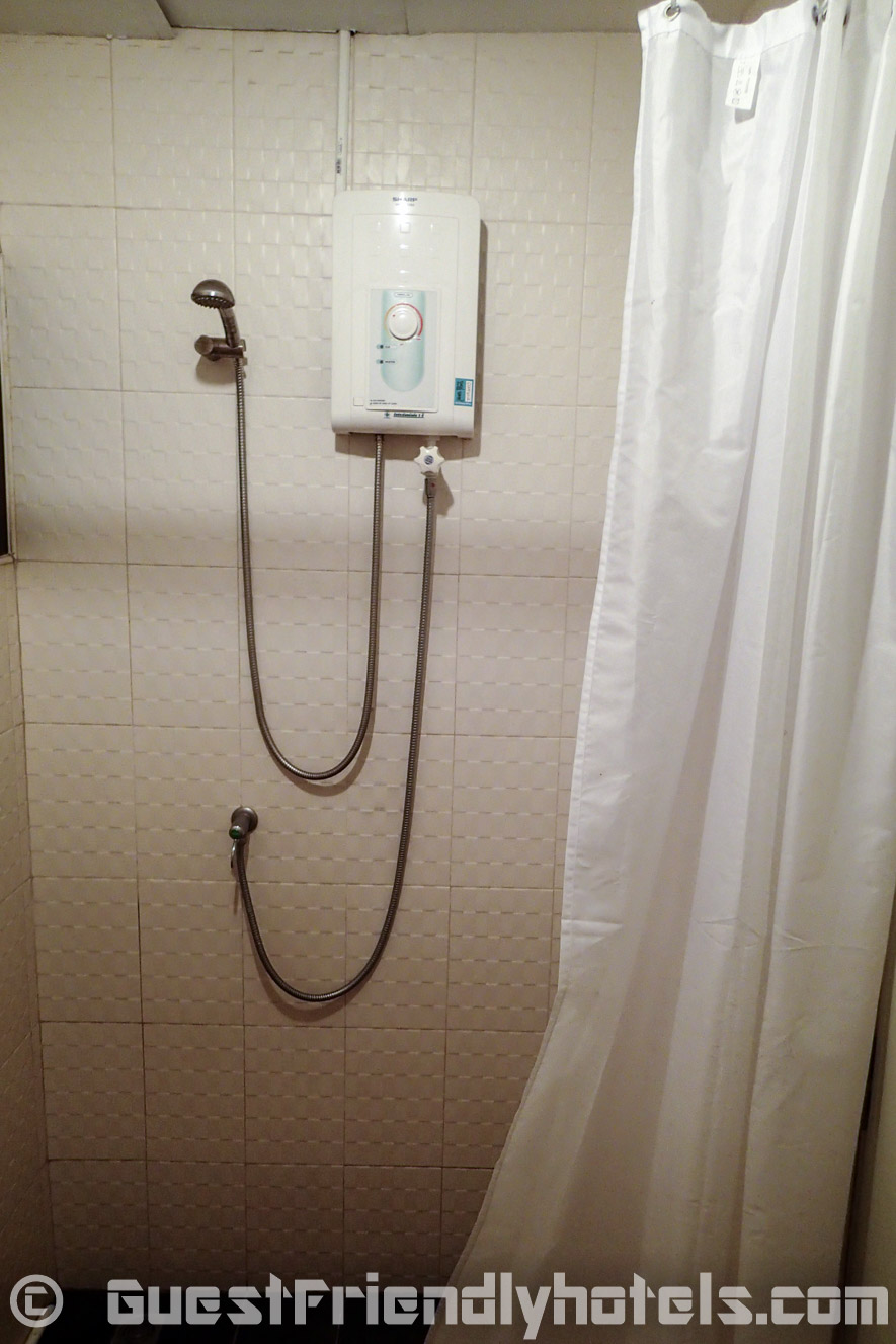 And a shower on the other side in rooms of Apsara Residence