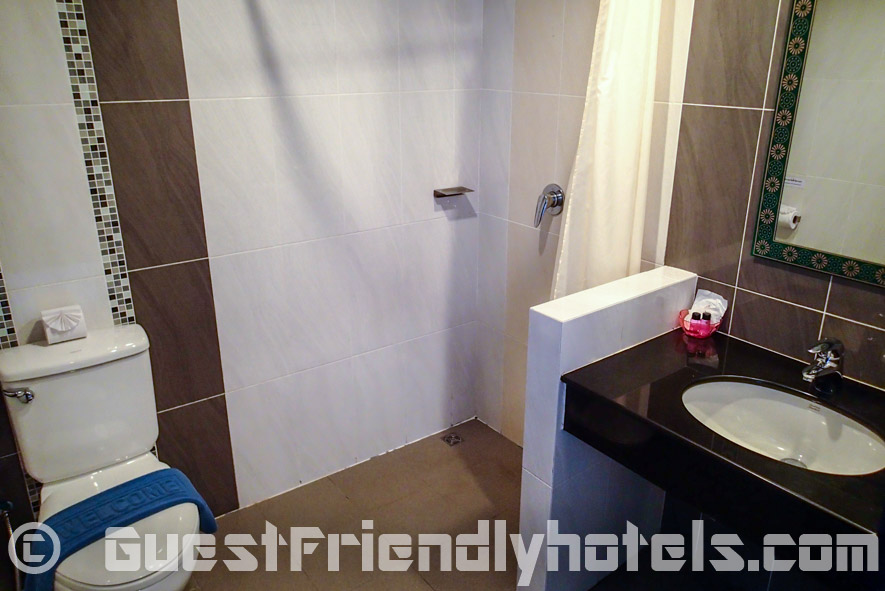 Bathroom shower corner in Amata Resort