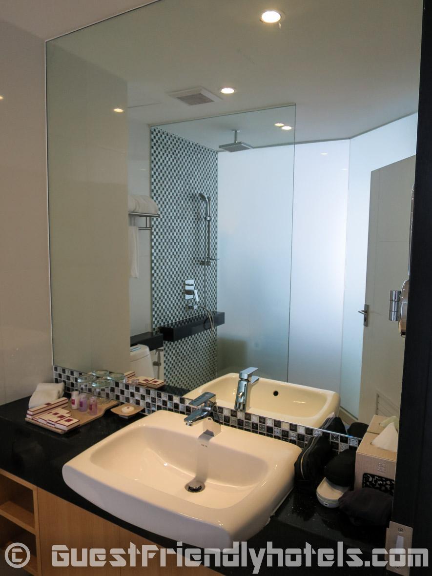 Bathroom sink at the Hotel Icon Bangkok