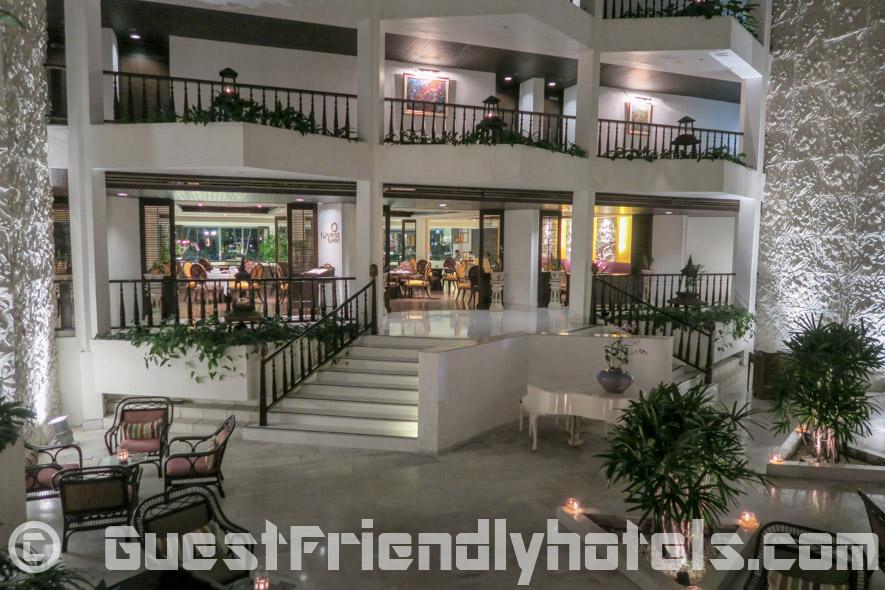 Beautifully done hotel interior design at the Siam Bayshore Resort & Spa