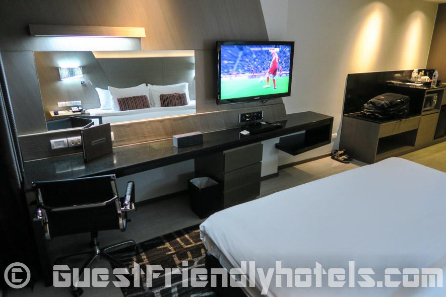 Big 40-inch TV found in all rooms of the Best Western Premier Sukhumvit