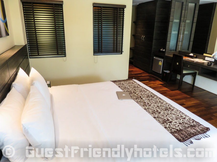 Big comfy king size bed with a great set of pillows at R Mar Resort and Spa