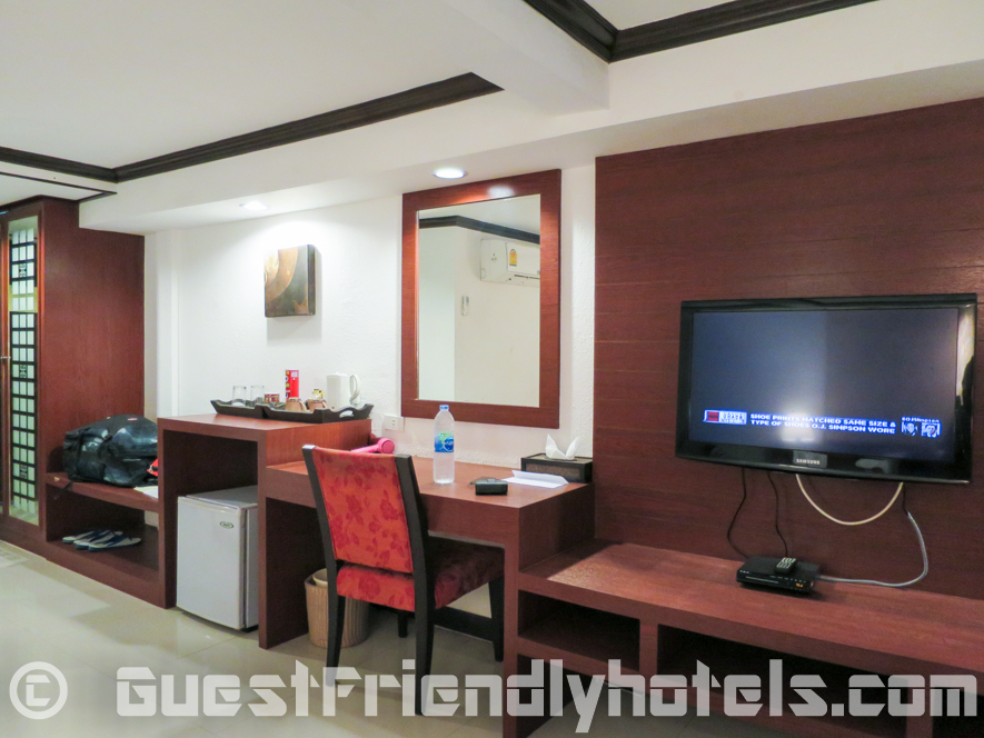 Deluxe Room with Balcony Amenities inside Patong Bay Garden Resort