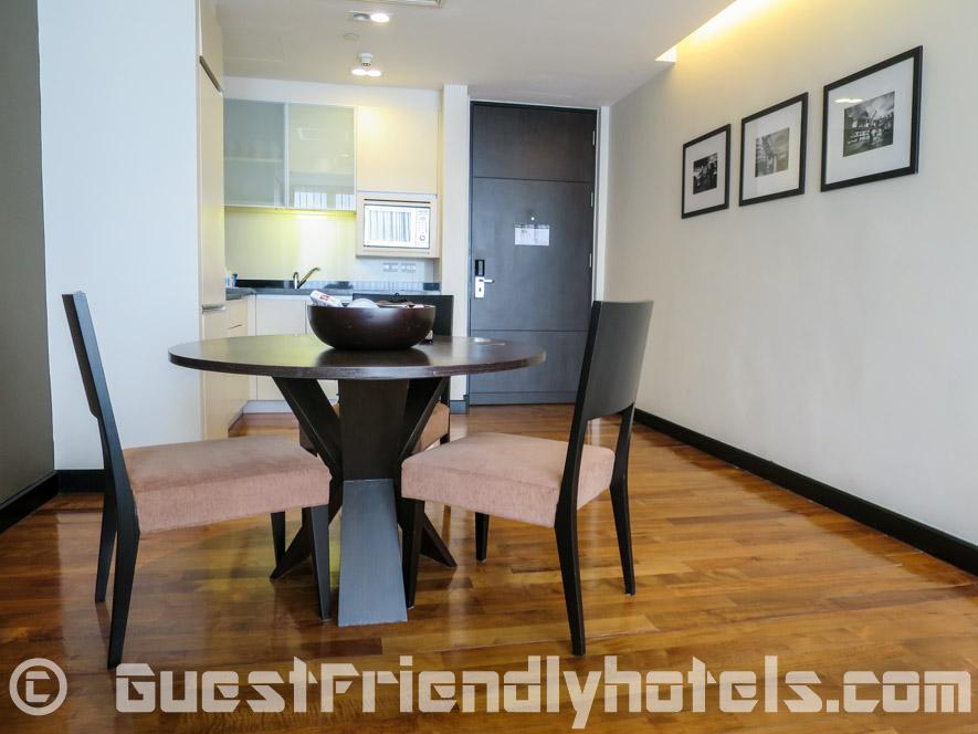Dining table room at Fraser Suites Sukhumvit Bangkok