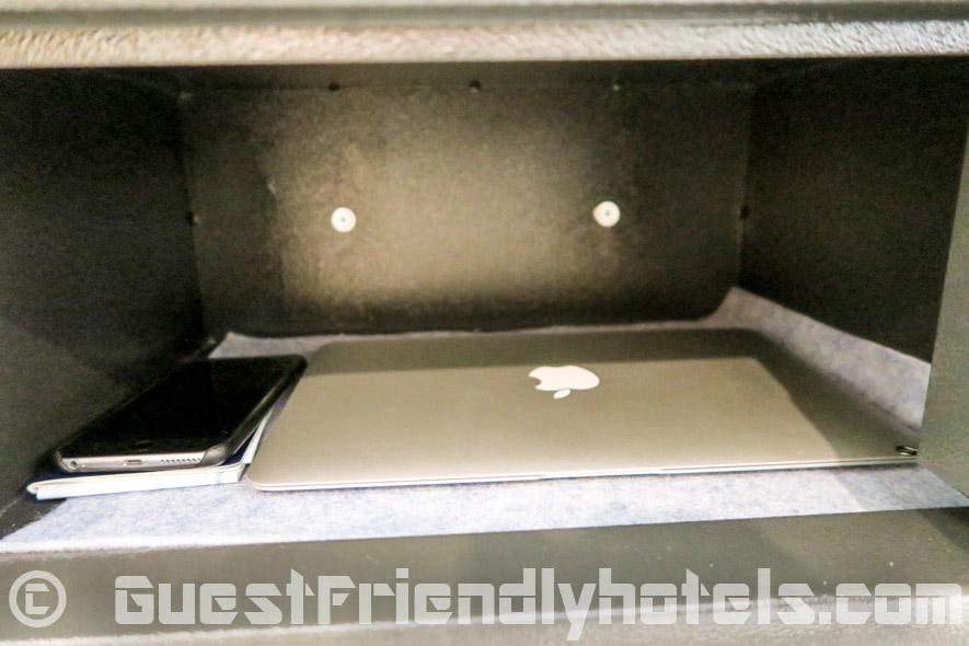 Electronic safe has quite some space in rooms of the Grand Bella Hotel Pattaya