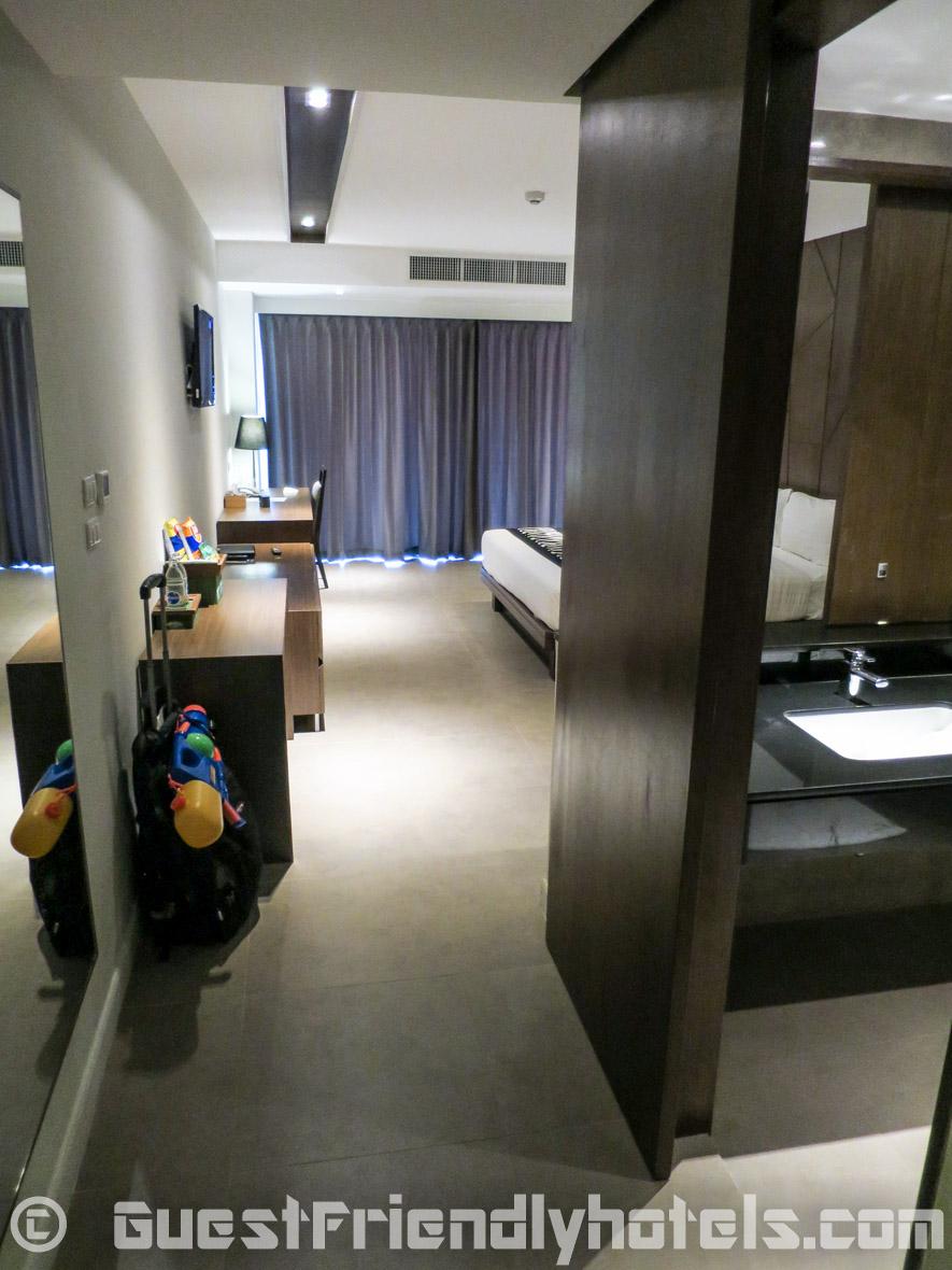 Entering my 42 sq.m Deluxe room in Season Five Hotel