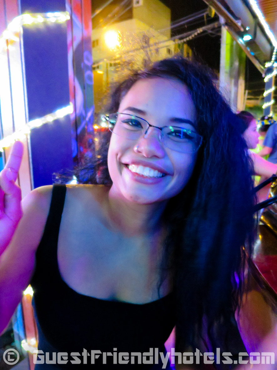 Having a last drink with a bargirl on Bangla Road before heading back to the R Mar Resort and Spa in Phuket