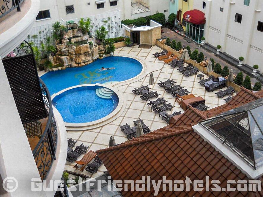 LK Metropole Pool area seen from room balcony