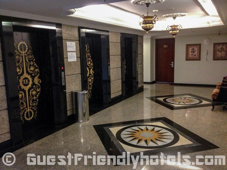 The trademark LK branch decor through the hallways and elevators