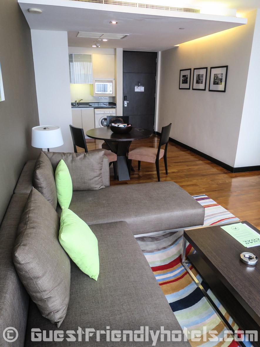 Living room studio at Fraser Suites Sukhumvit Serviced Apartment