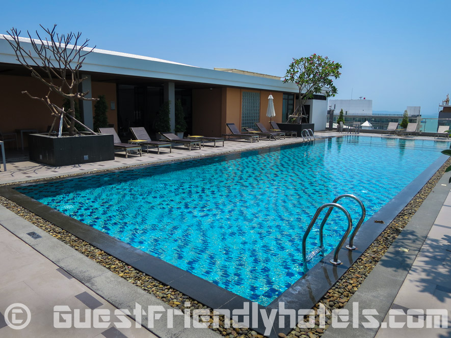 Loved the quiet rooftop swimming overlooking Pattaya bay in Season Five Hotel