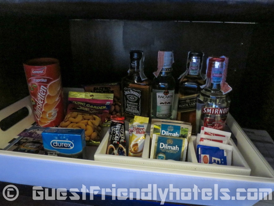 More mini bar snacks found in room drawers of hotel Bangkok