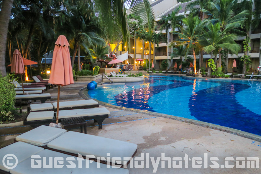 One of the best pool settings in Pattaya to sit back and relax at the Siam Bayshore Resort & Spa