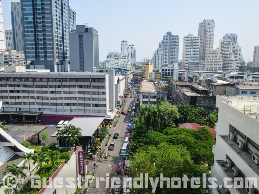 Overloooking soi 11 from the pool at Grand President Hotel Bangkok