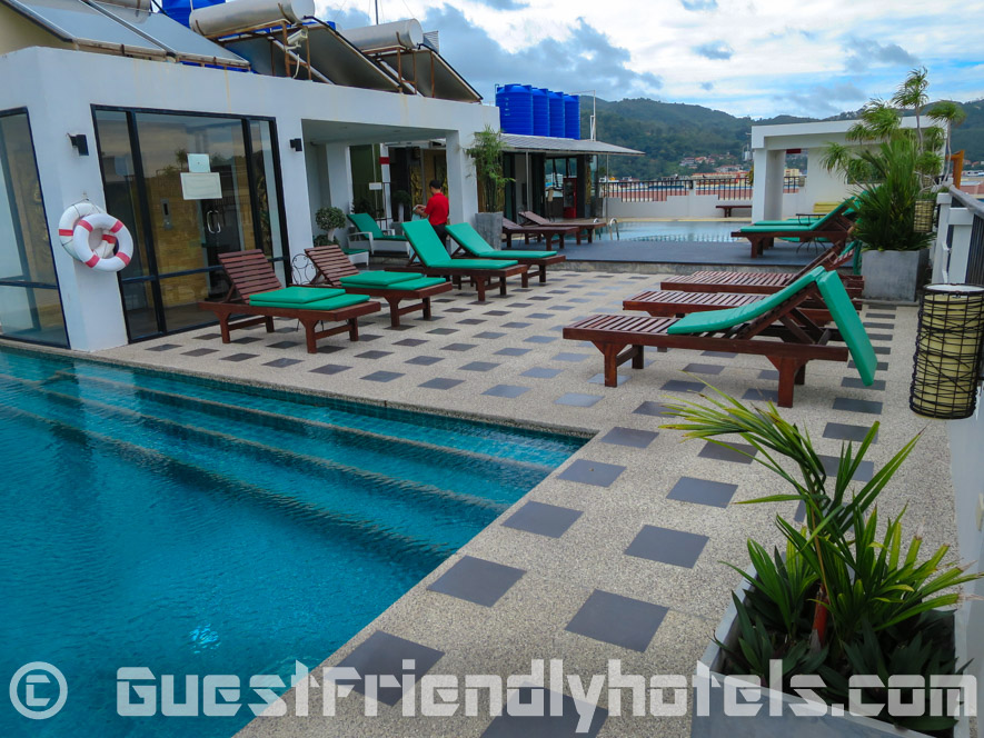 Rooftop pool at Phil Boutique Hotel @ Sansabai