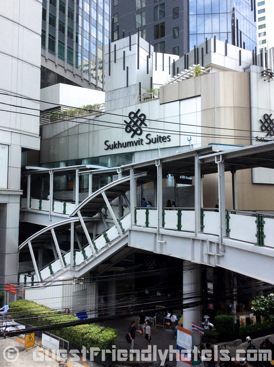 S Sukhumvit Suites Hotel entrance just next to skytrain Asoke