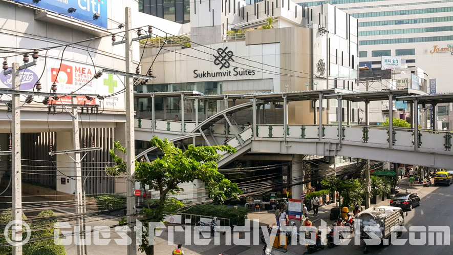 S Sukhumvit Suites Hotel entrance just next to skytrain BTS Asoke