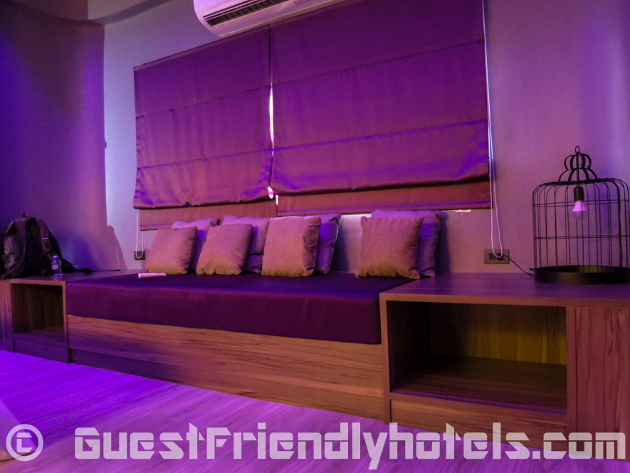 Seating Area on the along the wall in Superior rooms at Tweet Tweet Nest Pattaya Hotel