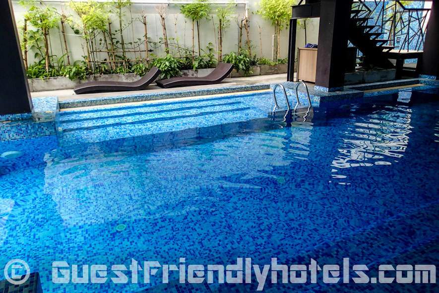 Small pool on the third floor with views over the Baywalk area in Aya Boutique Hotel Pattaya