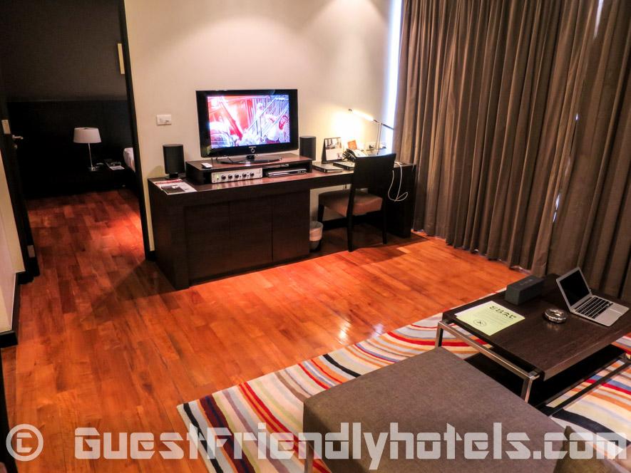 Sofa corner at Fraser Suites Sukhumvit Serviced Apartment Bangkok
