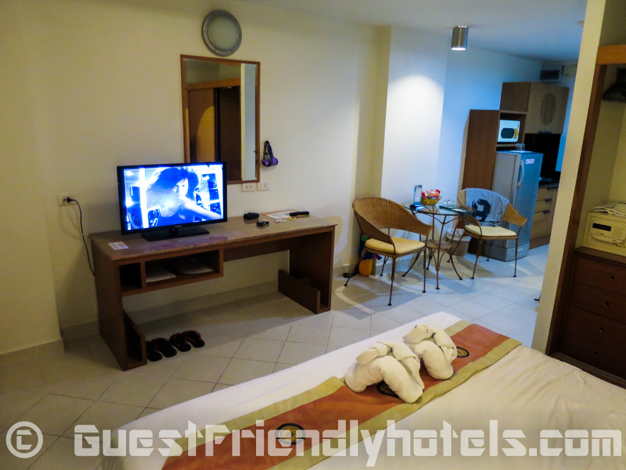 Standard room amenities in the Bella Villa Prima Hotel