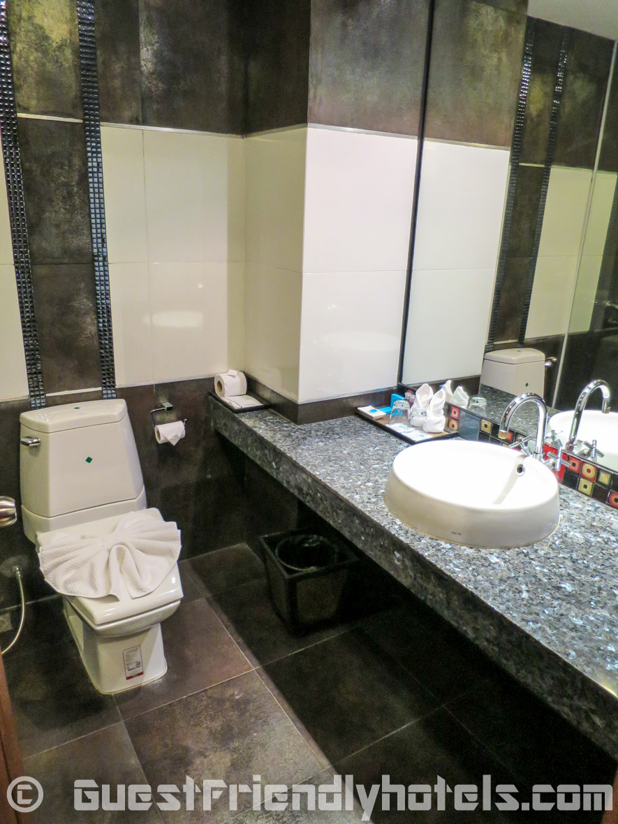 Superior room Bathroom is well fitted inside Pattaya Blue Sky Hotel
