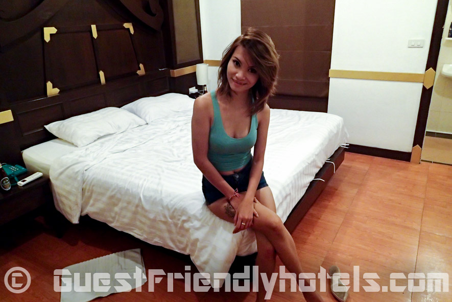 Thai Bargirl from Patong Tai pan disco back at the Apsara Residence guest friendly hotel