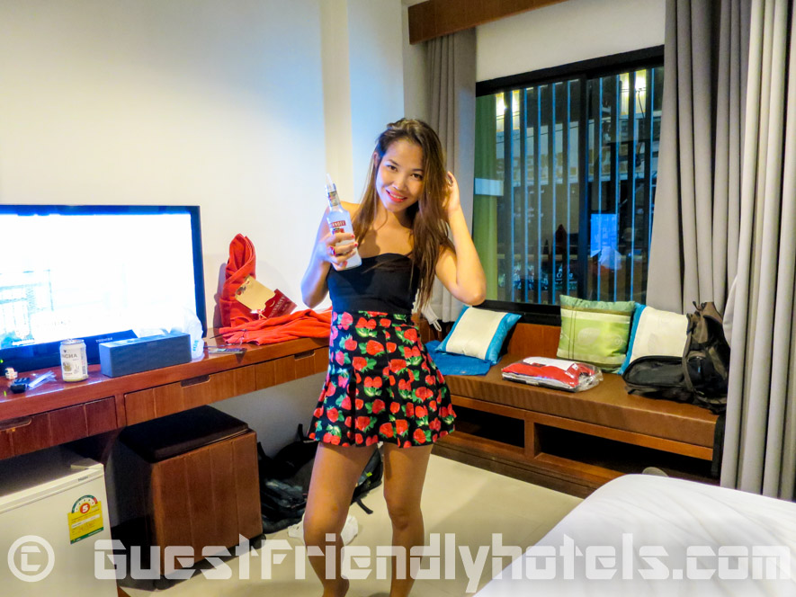 Thai girl from Seduction Club inside in my room at the guest friendly Phil Boutique Hotel @ Sansabai in Patong