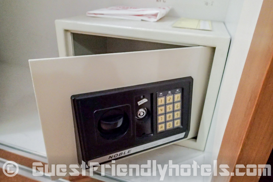 The Eastiny Seven does have small electronic safe