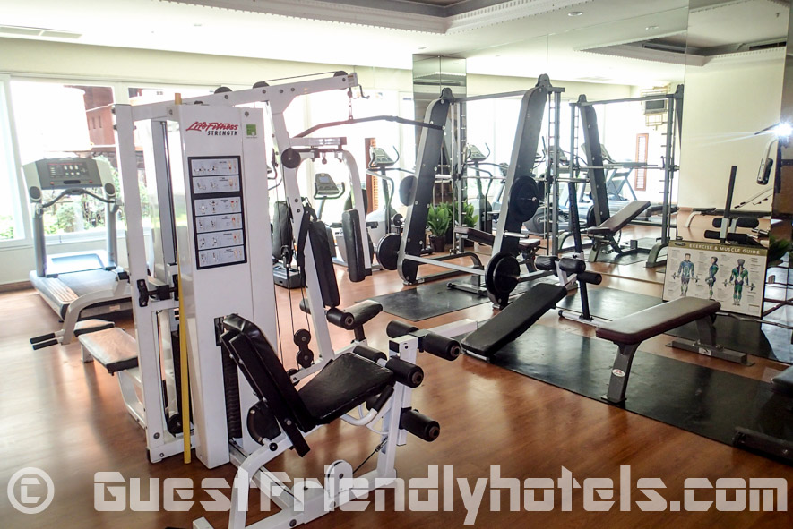 The gym equipment in LK Metropole