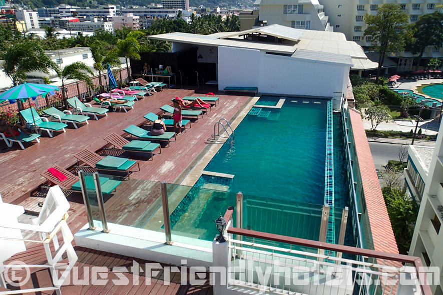 The rooftop pool of the Aspery Hotel in Patong