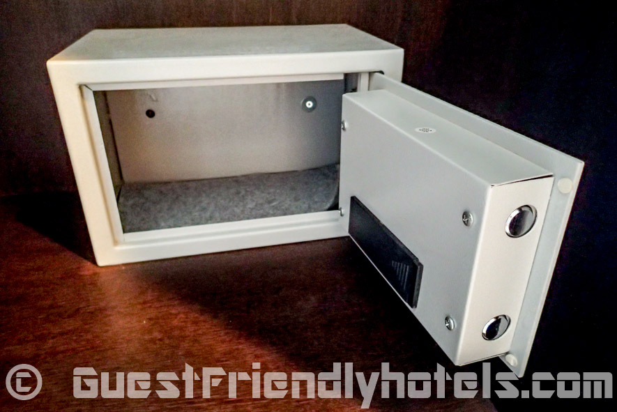 The small safe in my standard room at the Amata Resort