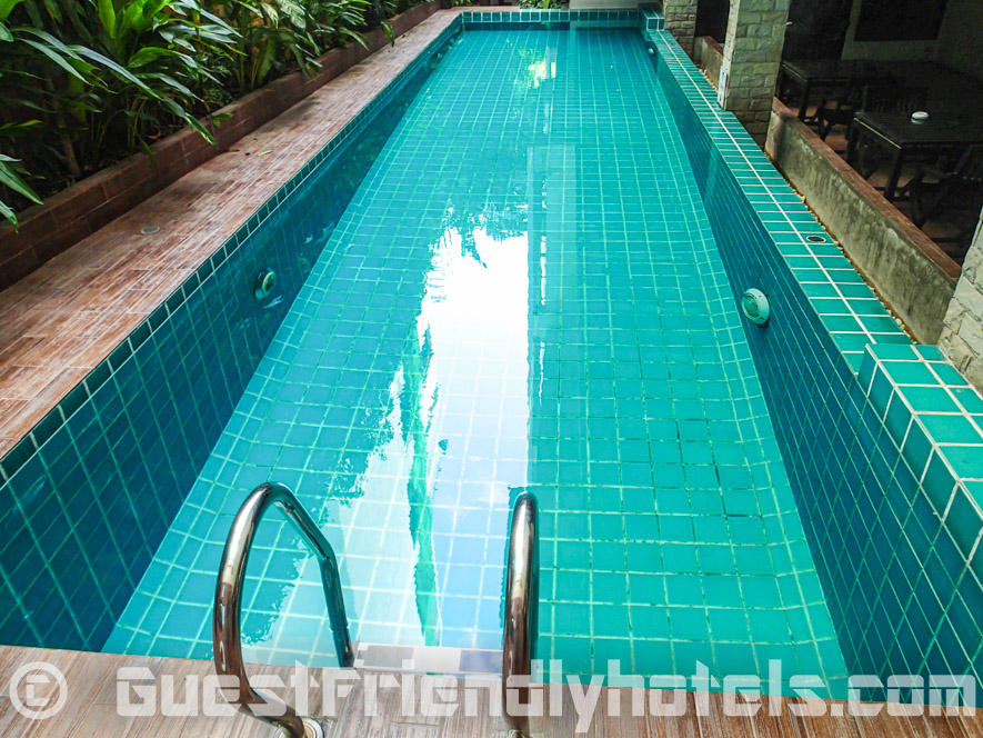 Tiny pool of Aspen Suites Bangkok