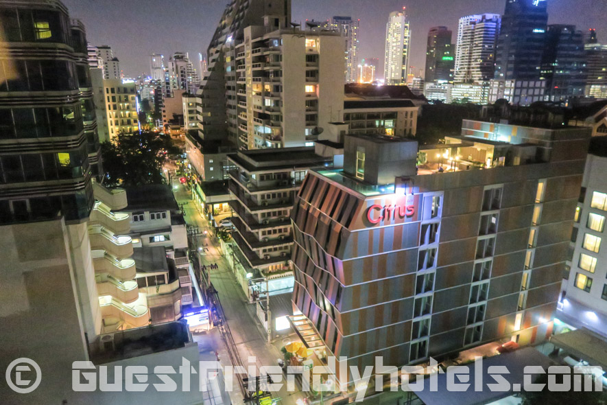 View from the window at a lower floor room in Ambassador Hotel Bangkok