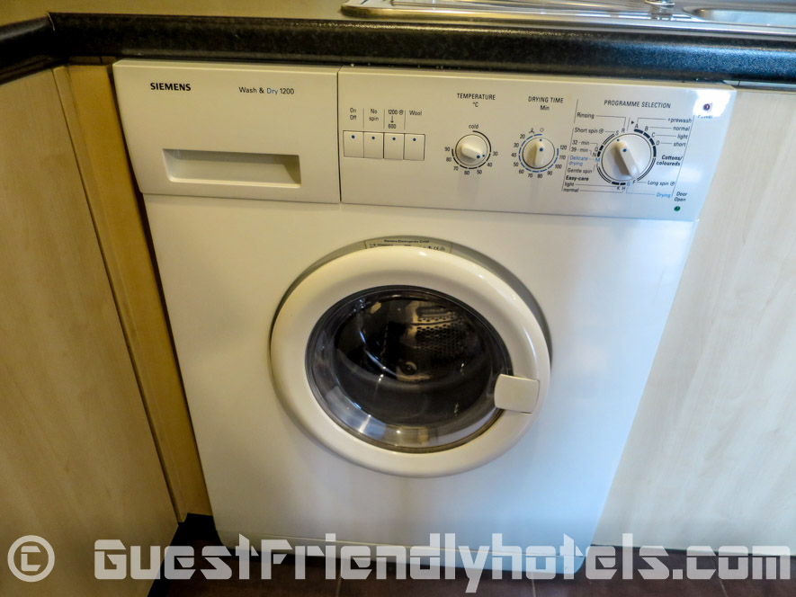 Washer and dryer are included in all rooms of SM Grande Residence Bangkok Deluxe Room