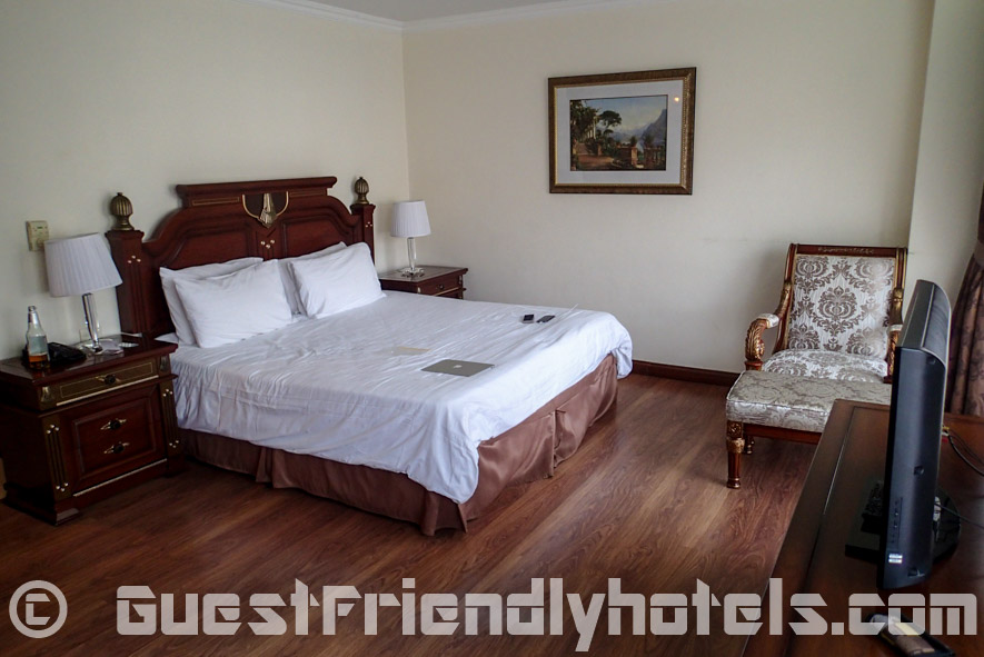 bedroom inside my Studio with Balcony in LK Metropole hotel