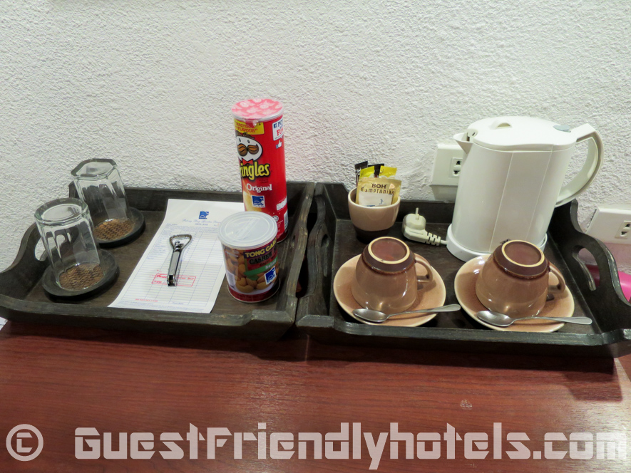 coffee and tea making facilities in rooms of the Patong Bay Garden Resort