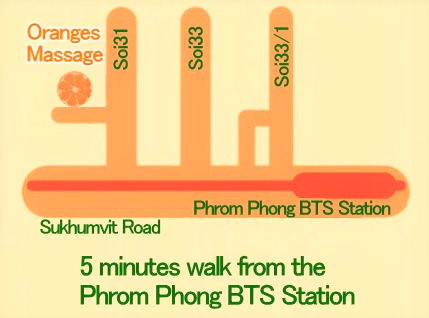 map of where to find Orange Massage in Bangkok