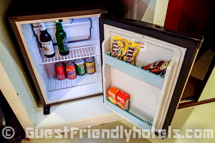 small room minibar inside Alfresco Phuket Hotel