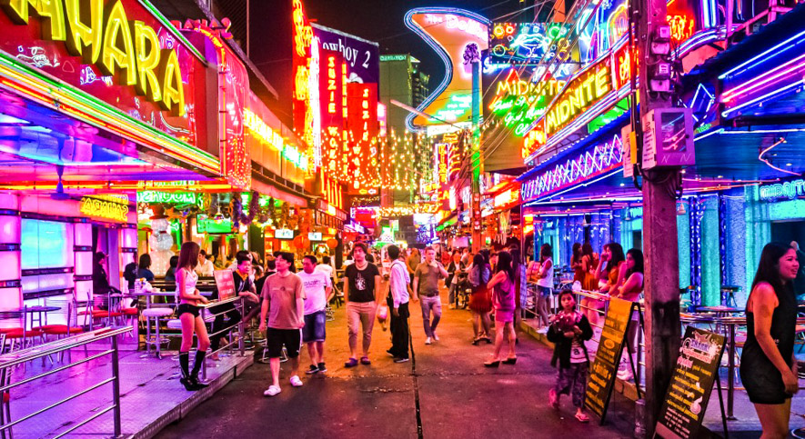 the neon lights of soi cowboy
